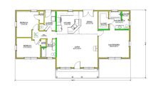 A34Y06008 – Tracy's Custom Homes Second Floor, Home Builders, Custom Homes, Floor Plans, Flooring, How To Plan, Wood Flooring, Floor, Floor Plan Drawing