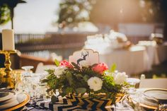 Chevron themed shabby chic wedding  |  The Frosted Petticoat