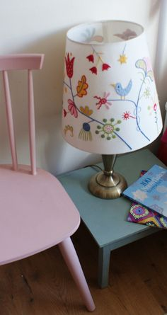 Pink stickback chair & fireside table in pastels by Adaliza