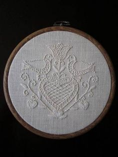 Birds and hearts embroidery - NEEDLEWORK