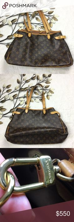 Louis Vuitton Monogram Batignolles Shoulder Bag Louis Vuitton Monogram Batignolles Horizontal Shoulder Handbag Tote. Great condition with the exception of outer corner scuffs from regular ware. The inside is in great condition as well. No stains, tares or marks. Got this bag used at a high end consignment shop in Boston. No low-balling please! Louis Vuitton Bags Shoulder Bags