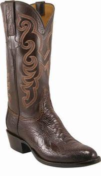 Mens Lucchese Classics Cigar Ostrich Leg* Custom Hand-Made Cowboy Boots L1356