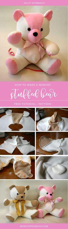 How to make a stuffed bear - Tutorial and Pattern - HowJoyful Bear by Joy Kelley from @howjoyful via @howjoyful