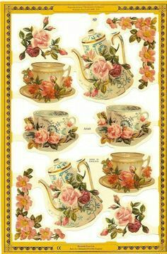 Roses and Tea Free Printables