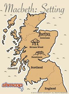 Map of Scotland - Macbeth Ideas, activities and resources for teaching GCSE Engl. English Literature Notes, Ap Literature, British Literature, Language And Literature, Language Arts, Teaching Literature, English Language, Macbeth Study Guide, Macbeth Quotes