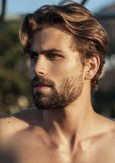 The best Hairstyle for Millennial Men - New Hairstyle Beautiful Men Faces, Gorgeous Men, Hairy Men, Bearded Men, Blonde Guys, Blond Men, Blonde Hair, Great Beards, Moustaches