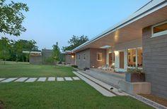 modern ranch homes | Texas Home Outside Contemporary Ranch in Texas Showcasing a Precious ...