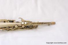 GetASax.com - Buescher Gold Plated True Tone Soprano Saxophone