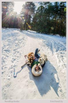 Хаски и Полина.Зима 2014 | Фото хаски и маламуты