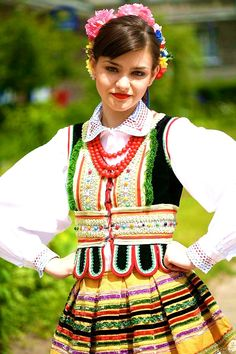 Lublin folk costume - Poland.