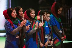 Afghan Girls' Robotics Team Wins Limelight at Competition