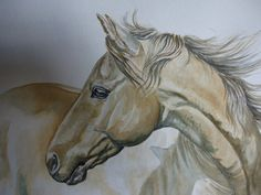 horse watercolor painting $350.00 USD