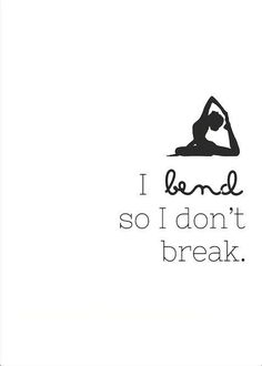 Introduction To Bikram Yoga I Bend So I Don't Break - Digital Art Printable by LotusAve on Etsy.I Bend So I Don't Break - Digital Art Printable by LotusAve on Etsy. Bikram Yoga, Sup Yoga, Yoga Handstand, Bikram Poses, Iyengar Yoga, Ashtanga Yoga, Pranayama, Yoga Fitness, Fitness Quotes