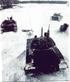 Т-62  советской армии на учениях  1984  г