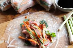 Lemongrass Beef Rice Paper Rolls - Make delicious beef recipes easy, for any occasion Rice Paper Rolls, Beef And Rice, Lemon Grass, Coriander, Fresh Rolls, Food Styling, Thai Red Curry, Beef Recipes, Easy Meals