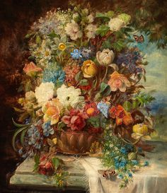 HANS ZATZKA (German, 1859-1945). Summer Flowers on a Ledge by sofi01, via Flickr