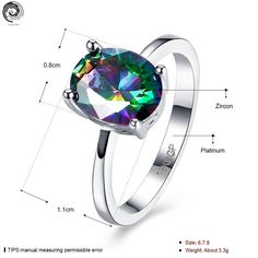 Lianzhi 2017 New Fashion Women Dance Party Wedding Zircon Colourful Simple Round Mosaic Rings