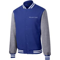 William Louis Fleece Letterman Jacket