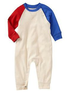 Paddington Bear™ for babyGap two-tone raglan one-piece | Gap