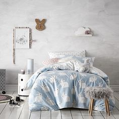 Kids bedroom ideas - Adairs Bunny Love Bed For Girls Room, Kids Bedroom, Master Bedroom, Room Kids, Kids Rooms, Bedroom Ideas, Kids Bed Sheets, Bunny Love, Cool Beds For Kids