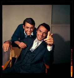 Adam West (Bruce Wayne) and Burt Ward (Dick Grayson)