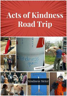 Making road trips fun and meaningful! Acts of kindness ideas for a road trip with your family . . . easy and inexpensive things to do, with helpful tools like a kindness meter. We totally enjoyed our last road trip. Fewer fights and more happiness!