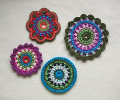 How To Make Crocheted Flowers | ebook on how to make them and this is what i ve been doing at night ...