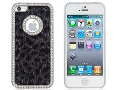 Amazon.com: Tanboo Leopard Plush Skinning Plated Case for iPhone 5 (Black): Cell Phones & Accessories