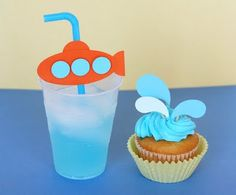 Summer Party or under the sea party - cupcakes could be for a pool party