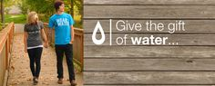 One t-shirt gives one person access to 25 years of clean water.