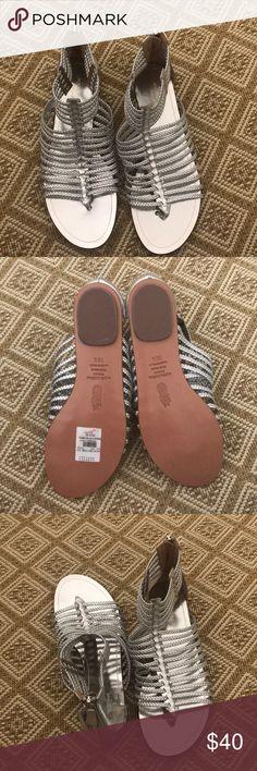 Aquazzura gladiator sandals Silver braided gladiator sandals Aquazzura Shoes Sandals