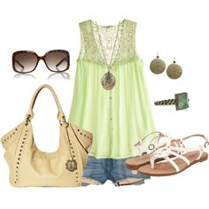 """""""green"""" by sandreamarie on Polyvore"""