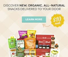 Discover new, organic, all-natural snacks, delivered to your door for $10/ per month Go to https://lovewithfood.com/?ref=r7A for your own box