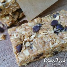 Try this Healthy Homemade PB Energy Bars recipe, or contribute your own. Real Food Recipes, Snack Recipes, Cooking Recipes, Yummy Food, Paleo Recipes, Healthy Treats, Healthy Desserts, Healthy Breakfasts, Healthy Bars