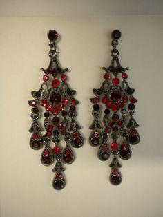 Crystal teardrop chandelier earrings chandelier earrings red crystal teardrop chandelier earrings chandelier earrings red carpet and prom aloadofball Gallery