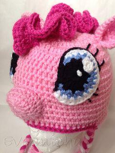 Pinkie Pie My Little Pony Crochet Earflap Hat by Evermicha on Etsy, $35.00