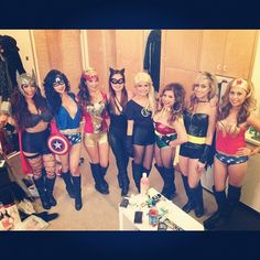 superheroes girl group halloween costumeshalloween - 5 Girl Halloween Costumes