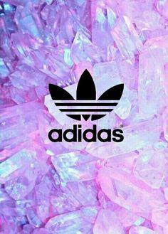 Adidas #crystals #purple #pink