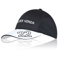 McLaren Honda Official Jenson Button Cap Adult Black Honda 123bac65752