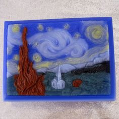 It's soap!  Art Attack Van Gogh STARRY NIGHT Art Soap  by bubblegenius.