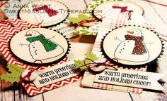 Anna Wight: Chicken Christmas Tags  Shinhan markers, Whipper Snapper Designs stamps, October Afternoon DP