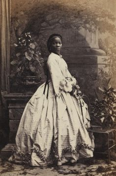 Sarah Forbes Bonetta was captured  during a slave hunt in Africa and was later given to Queen Victoria as a gift, aged just eight years old   (Sarah Forbes Bonetta (Sarah Davies), by Camille Silvy, 1862 © National Portrait Gallery, London)