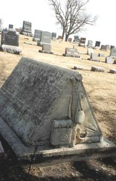 Lisa Barrientos found this interesting gravestone in a small cemetery in a small town in Iowa. She said the words have faded and can no longer be read. It would appear to be the gravestone of a Union Soldier from the War Between the States?