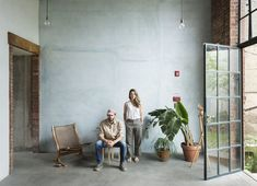 A Tree Grows in Brooklyn: Fabr Studio in East Williamsburg - Remodelista Tree Grows In Brooklyn, Cement Walls, Concrete Floors, Crafts For Seniors, Senior Crafts, Art Studio Design, Interior Architecture, Interior Design, Sleeping Loft