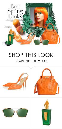 """brzoskwinia"" by margo47 ❤ liked on Polyvore featuring H&M, Brooks Brothers, Christian Dior and Xerjoff"