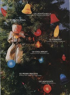 General Electric Christmas Lights Ad, 1972 - We had the angel tree topper.