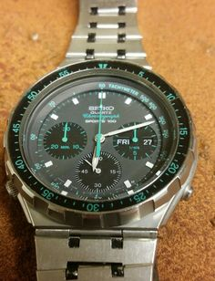 Seiko 7A38-7050 vintage chronograph watch
