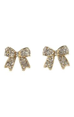 Deb Shops Stone Bow Stud Earrings $3.00