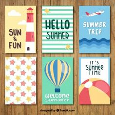 Cute summer card collection