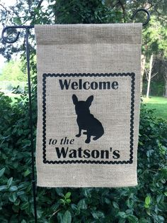 Personalized Garden Flag Personalized by SunshineSusieBtq on Etsy